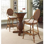 Hospitality Rattan Oyster Bay 3 Piece Pub Table Set; Patriot Birch