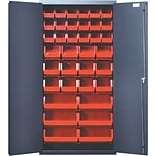 Quantum 72 H x 36 W x 18 D Welded Storage Cabinet; Red