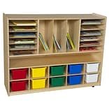 Wood Designs Multi-Storage 10 Compartment Cubby w/ Trays; Assorted