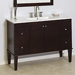 American Imaginations Transitional 48 Single Bathroom Vanity Base; Chrome