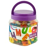 Miniland Educational Magnetic Uppercase Letters (155 Pieces) / Jar, Multicolor (97911)
