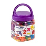 Miniland Educational Magnetic Numbers (162 Pieces) / Jar, Multicolor (97915)
