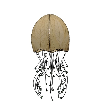 Eangee Home Design Jellyfish Hanging Natural Pendant -Natural (525 N)