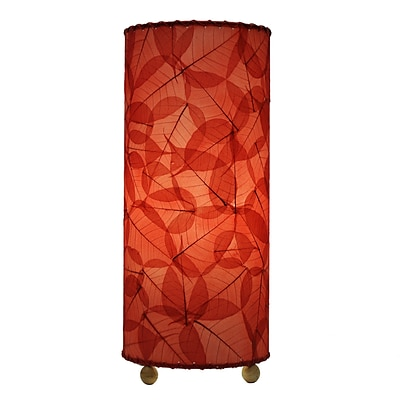 Eangee Home Design Banyan Leaf Table Lamp -Red (483-T-R)