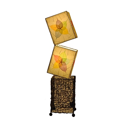 Eangee Home Design Large Cube Table Lamp -Multicolored (622-L-M)