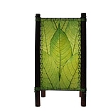 Eangee Home Design Bamboo And Cocoa Leaf Fortune Table Lamp -Green (395-T-G)