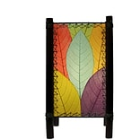 Eangee Home Design Bamboo And Cocoa Leaf Fortune Table Lamp -Multicolored (395-T-M)