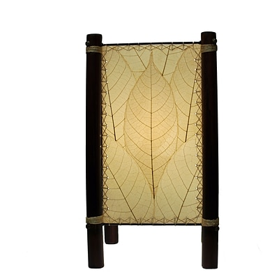 Eangee Home Design Bamboo And Cocoa Leaf Fortune Table Lamp -Natural (395-T-N)