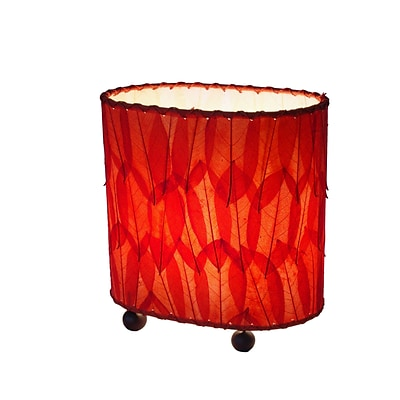 Eangee Home Design Mini Guyabano Leaf Table Lamp -Red (531-R)