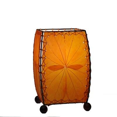 Eangee Home Design Square Alibangbang Leaf Mini Table Lamp Orange (477 O)