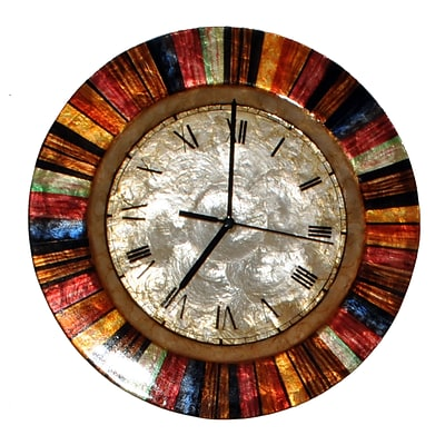 Eangee Home Design Multicolored Wall Clock (M714238)