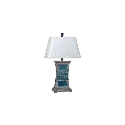 Aurora Lighting 1-Light Incandescent Table Lamp - Sea Blue (STL-CST079166)