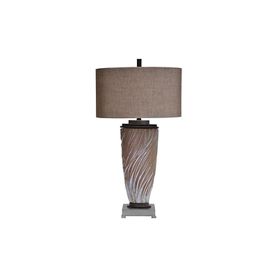 Aurora Lighting 1-Light Incandescent Table Lamp - Toasted Silver (STL-CST059342)