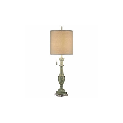 Aurora Lighting 1-Light Incandescent Table Lamp - Rustic Green (STL-CST081381)