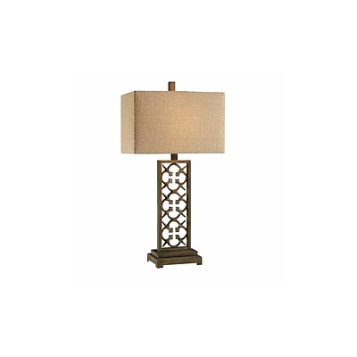 Aurora Lighting 1-Light Incandescent Table Lamp - Rustic Bronze (STL-CST085594)