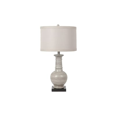 Aurora Lighting 1-Light Incandescent Table Lamp - Grey Washed Wood (STL-CST033847)