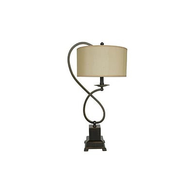 Aurora Lighting 1-Light Incandescent Table Lamp - Bronze (STL-CST010404)