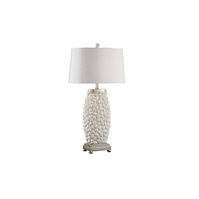Aurora Lighting 1-Light Incandescent Table Lamp - Sand Shell Silver (STL-CST085495)