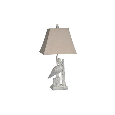 Aurora Lighting 1-Light Incandescent Table Lamp - Antique White Wash (STL-CST064803)