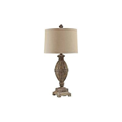 Aurora Lighting 1-Light Incandescent Table Lamp - Sand Wood (STL-CST083132)