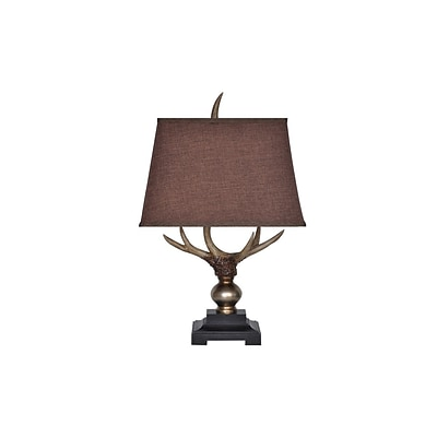 Aurora Lighting 1-Light Incandescent Table Lamp - Briston Antler (STL-CST064841)