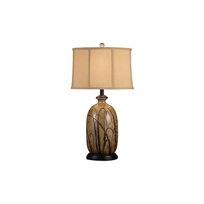 Aurora Lighting 1-Light Incandescent Table Lamp - Toffee and Black (STL-CST029468)