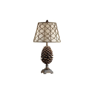 Aurora Lighting 1-Light Incandescent Table Lamp - Natural Pinecone (STL-CST021127)