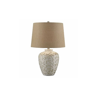 Aurora Lighting 1-Light Incandescent Table Lamp - Off-White (STL-CST086348)