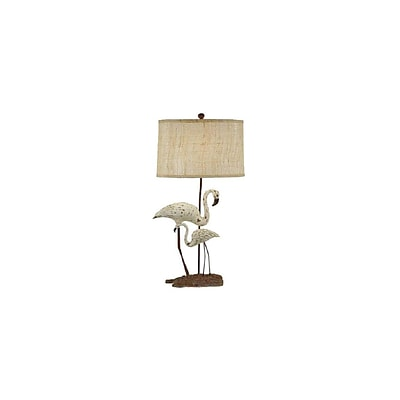 Aurora Lighting 1-Light Incandescent Table Lamp - White and Grey (STL-CST021134)