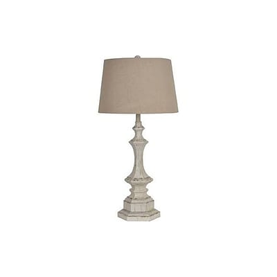 Aurora Lighting 1-Light Incandescent Table Lamp - White Wash (STL-CST059588)