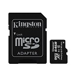 Kingston® SDCIT/64GB 64GB microSDXC UHS-I Memory Card with SD Adapter