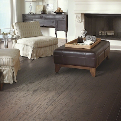 Welles Hardwood 3 1/4'' Engineered Hickory Hardwood Flooring In Dark Shadow