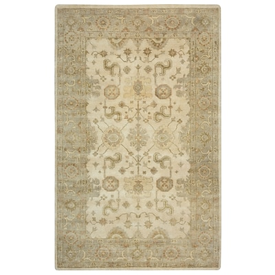 Rizzy Home Aquarius Collection Hand-Spun New Zealand Wool 5x8 Ivory (AQUAQ885104440508)