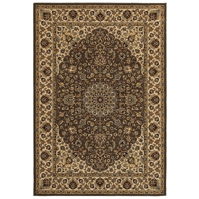 Rizzy Home Chateau Collection 100% Heat-Set Polypropylene 67x96 Brown (CHTCH419600126796)