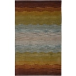 Rizzy Home Colours Collection New Zealand Wool Blend 8x10 Multi-Colored (COLCL251400750810)