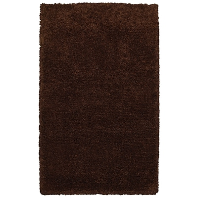 Rizzy Home Commons Collection 100% Polyester 8x10 Brown (CMOCO836300160810)