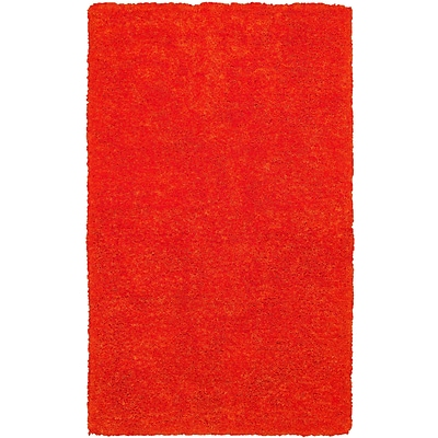 Rizzy Home Commons Collection 100% Polyester 9x12 Orange (CMOCO836400LJ0912)