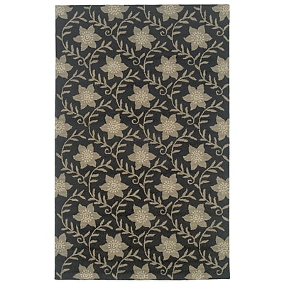 Rizzy Home Country Collection New Zealand Wool Blend 3 x 5 Black (COUCT091200060305)
