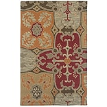 Rizzy Home Country Collection New Zealand Wool Blend 8x10 Multi-Colored (COUCT101500540810)