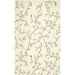 Rizzy Home Country Collection New Zealand Wool Blend 8x10 Ivory (COUCT163400040810)