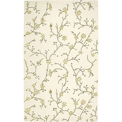 Rizzy Home Country Collection New Zealand Wool Blend 5x8 Ivory (COUCT163400040508)