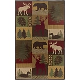 Rizzy Home Country Collection New Zealand Wool Blend 8x10 Multi-Colored (COUCT206200120810)