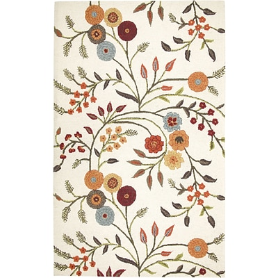 Rizzy Home Dimensions Collection New Zealand Wool Blend 5x8 Ivory (DIMDI146600930508)