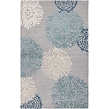 Rizzy Home Dimensions Collection New Zealand Wool Blend 3 x 5 Blue (DIMDI224100460305)