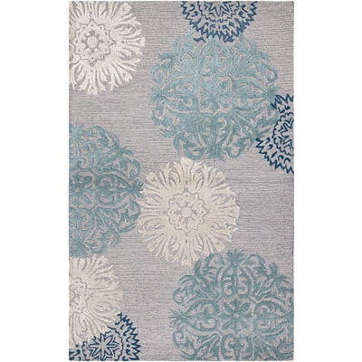 Rizzy Home Dimensions Collection New Zealand Wool Blend 5x8 Blue (DIMDI224100460508)