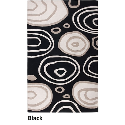 Rizzy Home Fusion Collection New Zealand Wool Blend 5x8 Black (FUSFN007100060508)