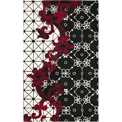 Rizzy Home Fusion Collection New Zealand Wool Blend 2 x 3 Black (FUSFN144700060203)