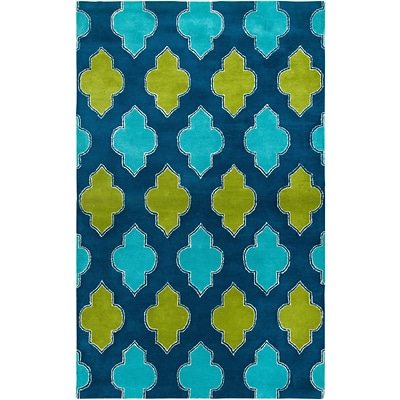 Rizzy Home Fusion Collection New Zealand Wool Blend 3 x 5 Blue/Teal/Green (FUSFN224700090305)