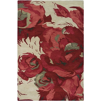 Rizzy Home Highland Collection 100% Wool 8x10 Red (HIGHD260100040810)