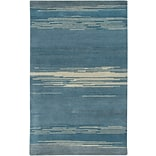 Rizzy Home Mojave Collection 100% Hard-Twist Wool 2 x 3 Blue (MOJMV315700090203)